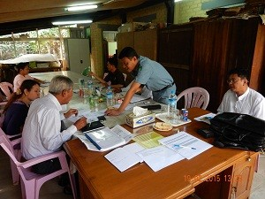 Training needs assessment in Pathein, February 2015